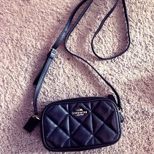 Coach Quilted Double Zip Crossbody Bag